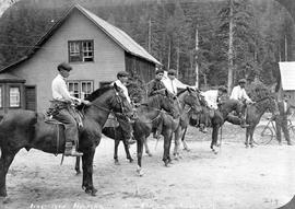 Indian horses at Bella Coola
