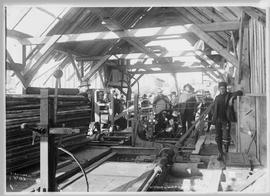 Interior of sawmill, Atlin, BC