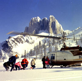 Helicopter Skiing From Bugaboo Creek Lodge