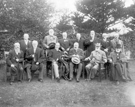 "The attendees of an ""Old Timers"" luncheon, given by William J. Roper in Victoria."
