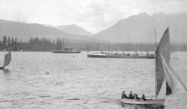 The torpedo ship HMS Virago in Burrard Inlet.