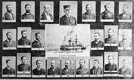 """Captain James W. East and Officers of HBMS Comus."
