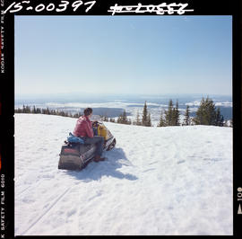 Snowmobiling On Pilot Mountain.