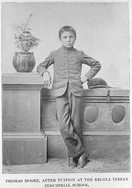 """Thomas Moore after tuition at the Regina Indian Industrial School."""