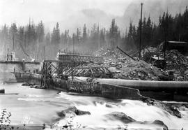 Ocean Falls; penstock for the Link River Dam