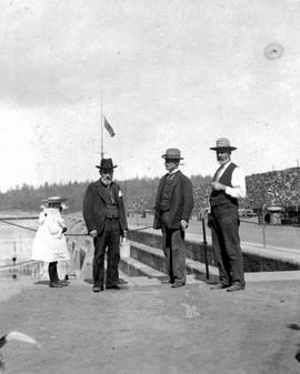 D. Greives, J.E. Jeffcott, And J. Robinson At The Dry Dock, Esquimalt.