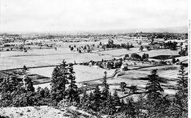 View of Shelbourne Valley, Victoria, from Mount Tolmie, one of three; see A-01056 to A-01058.