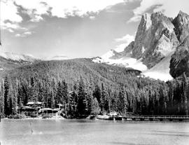 Emerald Lake Showing Chalet