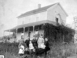 Kamloops Museum photo; Mr. and Mrs. J.T. Edwards and their children; North Thompson