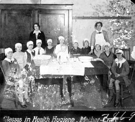 """Classes in Health Hygiene, Mother-craft""; Victorian Order of Nurses."