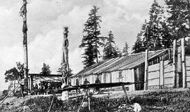 Unidentified First Nations settlement in the Cariboo.