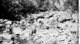 Leech River; Prospectors At Gold Canyon.