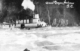 """Grand Canyon, Nechaco, BC""; the sternwheeler Nechacco in the Grand Canyon of the Frase..."