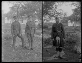 Two photos of soldiers at Willows Camp