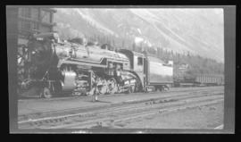 2-8-2, Mikado no. 5363, 3/4 left, closeup, good detail, Field, BC, mid-1930s