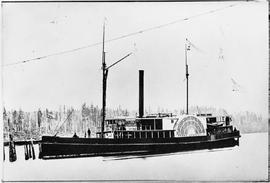 """S.S. Eliza Anderson, pioneer boat from Puget Sound to Victoria 1860""."
