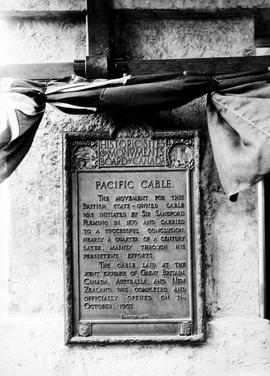 Bamfield Cable Station Memorial Plaque.