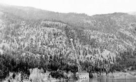 """Sketch-view of proposed development at Seton Lake, Bridge River Power Company""."