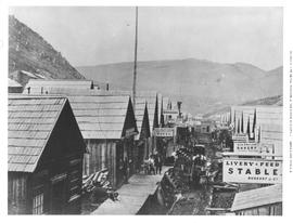 Barkerville.  Williams Creek.  406 miles from Yale.  before the Fire Sept. 16th 1868