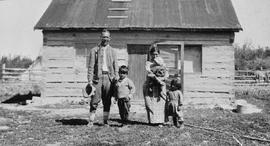 A family at Fort Providence; George Ball and Fenley Hunter in the North West Territories and the ...