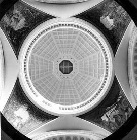 View Of Portion Of Ceiling Of Main Rotunda, Showing Paintings By Southwell.