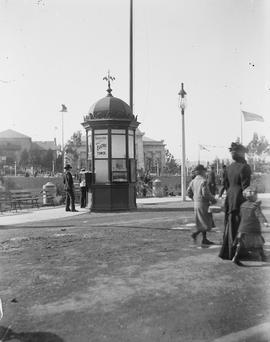 Golden Gate Midwinter Fair, San Francisco; Electric Tower ticket booth.