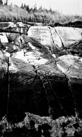 Sir Alexander Mackenzie's rock at Bella Coola.