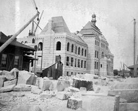 View Of Parliament Buildings, Victoria, Under Construction