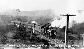 """First through train from the east over the GTP, Telkwa."""