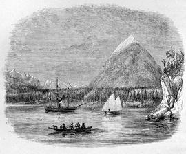 """Head of Jervis Inlet""; engraving based on drawing by E.P. Bedwell of HMS Plumper an an..."