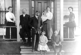The William Halliday family on the porch of their home in Alert Bay