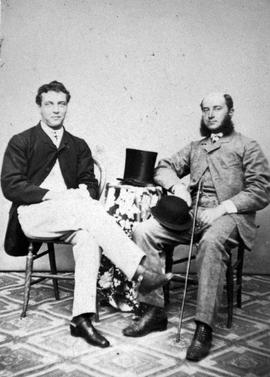Lord Charles Beresford and Lieutenant Maxwell of HMS Sutlej; civilian clothing.