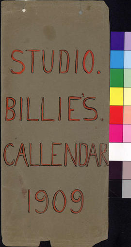 Studio Billie's Callendar, 1909.
