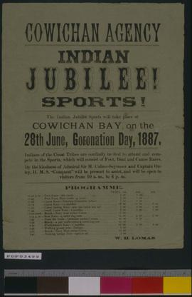 Cowichan Agency Indian Jubilee - Sports.