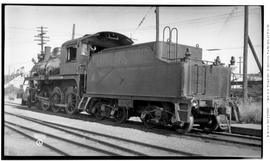 4-6-0 Esquimalt and Nanaimo [E & N] No. 462, 3/4 left from rear with tender prominent. Closeu...