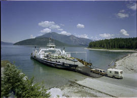 Boarding Galena Bay Ferry, Upper Arrow Lake