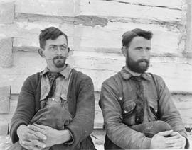 Two of Frank Swannell's surveyors, on the left G.V. Copley, Fort St. James, BC.