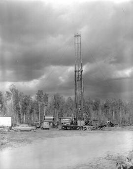 Alaska Highway, Mile 25. Oil Drilling