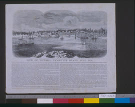 View of Victoria, Vancouver Island, engraver S. F. Baker.