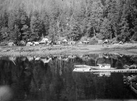 Houses at Jedway, Queen Charlotte Islands.