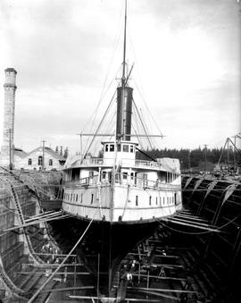 Canadian Pacific SS Charmer, In Esquimalt Dry Dock.