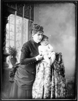 Florence, Mrs. George Gillespie, and her son, John Hebden Gillespie