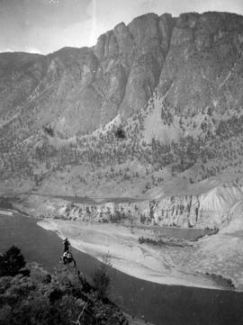 Photograph of unidentified mountain taken during the survey of First Nations reserve IVA.