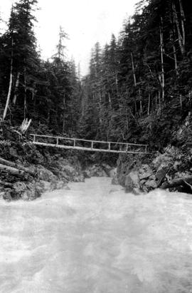 Swannell Survey; Bridge over a rough river.