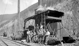 Crew of the donkey engine at the Bloedel Stewart and Welsh operation at Franklin River.