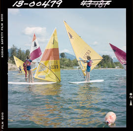 Windsurfing At Windermere Lake