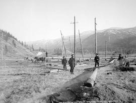 Plumbing line, West Kootenay Power and Light Co. Ltd., near Grand Forks