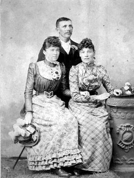 Kamloops Museum photo; Mrs. James A. Aikens, Miss M. Reid and Fred Morrow