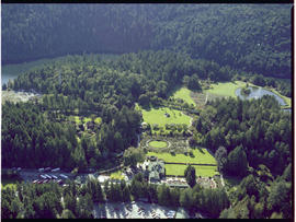 Victoria. Aerial Of Butchart's Gardens