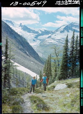 Earl Grey Pass Trail And Hikers